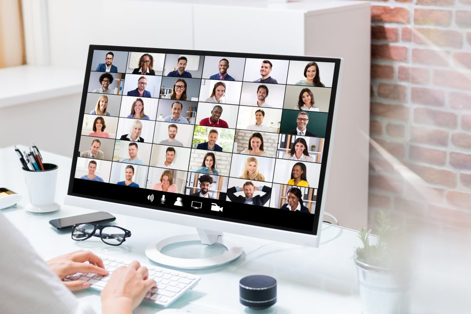 Virtual backgrounds in a virtual meeting