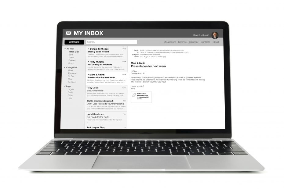 Display Email Inbox